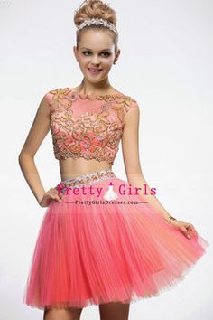 2015 Prom Dresses A Line Bateau Sleeveless Short/Mini With Beading/Sequins