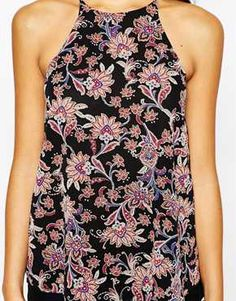 Enlarge New Look Paisley Print Cami Top Head To Toe, Cami Tops, 70s Fashion, Paisley Print, New Look, Shopping, Dresses, Style, Maps
