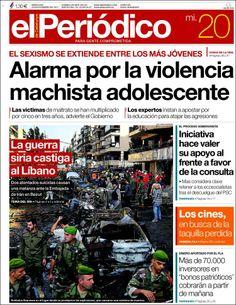 Los Titulares y Portadas de Noticias Destacadas Españolas del 20 de Noviembre de 2013 del Diario El Periódico ¿Que le pareció esta Portada de este Diario Español?