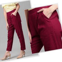 Trousers & Pants Trendy Pure Cotton Flex Women's Solid Pencil Pant Fabric: Pure Cotton Flex Waist Size: S- 28 in M - 30 in L - 32 in XL - 34 in XXL - 36 in Length: Up To 37 in Type: Stitched Description: It Has 1 Piece Of Women's Pencil Pant Pattern: Solid Country of Origin: India Sizes Available: S, M, L, XL, XXL   Catalog Rating: ★4 (456)  Catalog Name: Diva Trendy Pure Cotton Flex Women's Solid Pencil Pants Vol 9 CatalogID_381110 C79-SC1034 Code: 183-2807255-