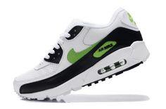 Nike Air Max 90 Zapatillas para Hombre Blancas/Negras-Verdes http://www.esnikerun.com/