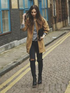 "♥ this look on @What I Wear .com by VERONIKA MOLNAR ""CAMEL COAT"" http://www.whatiwear.com/look/detail/148686"