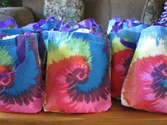 For my daughter Makenna's 9th Birthday party she wanted to have a  Rainbow Tie Dye Party! Here's what we did from games, to favors, to decorations and food. http://mommymartina.blogspot.com