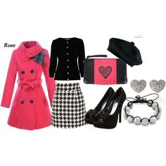pink and black - the coat!