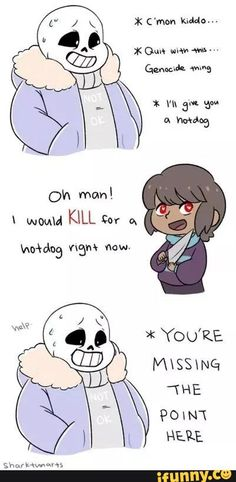 Undertale Genocide run Frisk and Sans