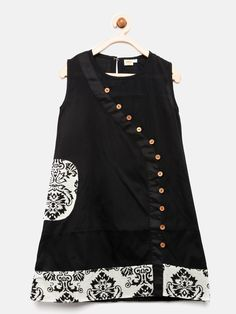 Buy K&U Girls Black & Off-White Printed Kurti online in India at best price. Girls Dress Pic, Kids Dress Wear, Girls Dresses Sewing, Dresses Kids Girl, Children Dress, Girls Frock Design, Kids Frocks Design, Baby Frocks Designs, Baby Dress Design