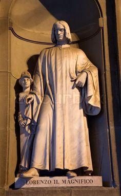 Lorenzo de' Medici 'Il Magnifico' ~ Florence - Donatello statue on the facade of Uffizi Gallery