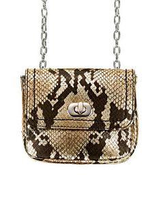 Mini Chain Bags |  Embossed leather bag, Banana Republic, $60