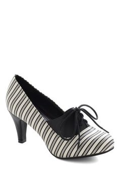 Not Just Black and Stripe Heel #ModCloth