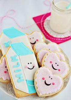 """How cute! Great interpretation of """"milk and cookies"""" for Santa!"""