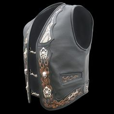 Motorcycle Vest, Biker Gear, Leather Biker Vest, Motorcycle Accessories, Leather Working, Fasion, Fashion Backpack, Digger, Death