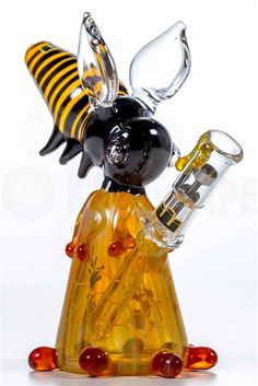SILIKA GLASS - BIG BEE OIL RIG in KING's Pipe #420