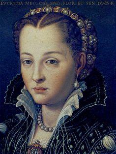 Agnolo Bronzino (1503-1572) Lucrezia di Cosimo de Medici 1560