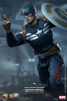Captain America Collectible Figure in Stealth S.T.R.I.K.E. suit