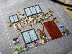 Home Sweet Home. Casita Costurero bordada por Nuria