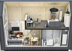 Vraag naar kleine complete woningen (tot 50m2) neemt sterk toe! - Wonen in Den Haag Wooden Terrace, Nars, Office Desk, Tiny House, Furniture, Home Decor, The Hague, Desk Office, Decoration Home