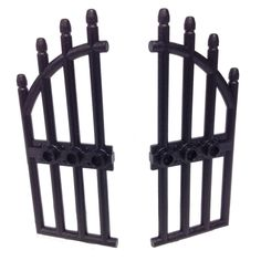 Lego Parts: Door 1 x 4 x 9 Arched with Bars and Three Studs (Black) The Ring 1, Lego Halloween, Arched Doors, Lego Room, Gate House, Lego Parts, Black Doors, Lego Movie, Studs
