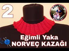 EĞİMLİ YAKA / NORVEÇ KAZAĞI - 2 (ÖRGÜ) - YouTube Pulls, Crochet Necklace, Crochet Hats, Sari, Youtube, Fashion, Children, Knitting Hats, Saree