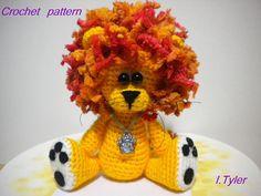Crochet Pattern Amigurumi Crochet Lion Pattern Olly by hugles
