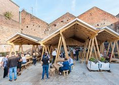 Constellations Bar by H Miller Bros is a courtyard canopy made up of triangles and zigzags in Liverpool