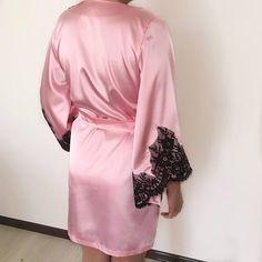 Pink robe Bride and Bridesmaids Robes satin robe bridesmaid a49c3c60f