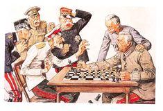 Rare German propaganda posters during the First World War. Ww1 Propaganda Posters, Political Posters, Caricatures, Old People Cartoon, Thor, History Cartoon, Etat Major, Postcard Art, World War One