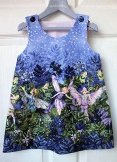 Just love this so much.... Michael Miller vintage inspired handmade flower fairy glitter pinafore dress age 5yrs