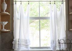 Kitchen curtains.