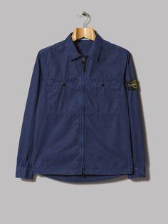 Stone Island Garment Dyed Old Effect Overshirt (Royal)