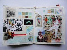 Design Sketchbook One by Jessie Holmes, via Behance Beautiful layout and components Textiles Sketchbook, Sketchbook Pages, Sketchbook Ideas, Book Journal, Art Journals, Visual Journals, Pastel Crayons, Fashion Sketches, Fashion Illustrations