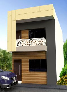 Indian house design, small house design, house plan with elevation, Nikshail House Design Iron Staircase Railing, Metal Railings, House Front Design, Small House Design, Open Floor House Plans, Indian Home Design, Indian Homes, House Elevation, How To Plan