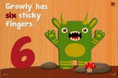 Cutie Mini Monsters [iPhone version, ages: 1+] - an interactive counting book (from 1 to 10) plus a set of jigsaw puzzles with the monster theme. Original Appysmarts score: 82/100