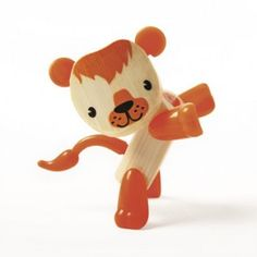 Take A Walk On The Wild Side! The Lion Mini-Mal Play Figure Is The Perfect Size For Small Hands And Big Imaginations. This Innovatively Designed, Bamboo Toy Fea Wooden Puzzles, Wooden Toys, Wooden Animals, Kids Toys Online, Hape Toys, Lion Toys, Eco Friendly Toys, Toy Kitchen, Creative Thinking