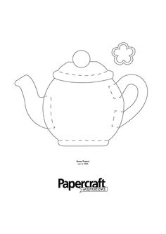 Tea pot shaped template from PaperCraft Inspirations magazine blog here: http://papercraftinspirations.themakingspot.com/blog