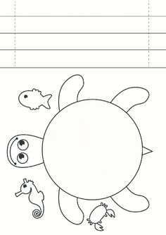 children activities, more than 2000 coloring pages Kindergarten Art Projects, Kindergarten Lessons, Sea Crafts, Paper Crafts, Preschool Crafts, Diy Crafts For Kids, Turtle Crafts, Printable Crafts, Math For Kids