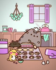 Check out this awesome collection of Cute Pusheen wallpapers, with 56 Cute Pusheen wallpaper pictures for your desktop, phone or tablet. Chat Pusheen, Pusheen Love, Chat Kawaii, Kawaii Cat, Kawaii Shop, Arte Copic, Pusheen Stormy, Image Chat, Cute Kawaii Drawings