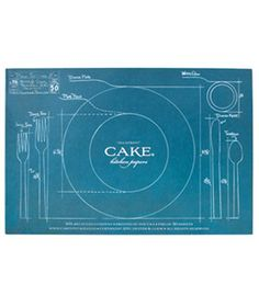A lost art- how to set a table- in a placemat! www.cakevintage.com