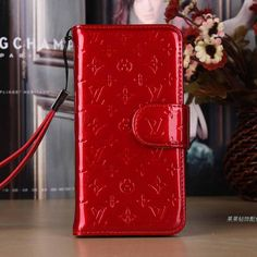 Louis Vuitton iPhone 6 Wallet Case LV Vernis Cover Red