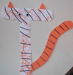 Alphabet Letter T is for tiger craft
