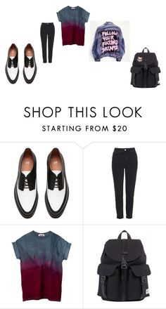 """""""quick little set"""" by keeperoftheart ❤ liked on Polyvore featuring Topshop and Herschel"""