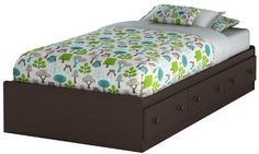TWIN Childs Bed CHOCOLATE Storage Drawers Teen Room Furniture 39 INCH Youth Bunk