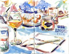 Sketches That Sing - some workshops ideas for unusual and striking Urban Sketches by Lynne Chapman