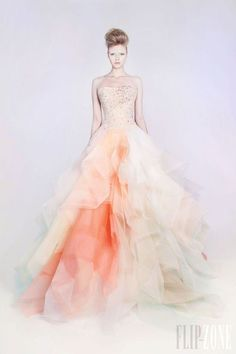 Amazing pastel gown.