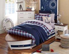 white boys bedroom nautical - Google Search