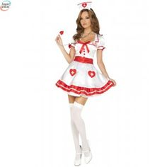 This sexy Nurse Kandi Costume from Elegant Moments includes dress, belt, head piece, pin and stethoscope. Perfect for Halloween and costume parties, or a racy night at home. Pin Up Girl Costume, Sexy Nurse Costume, Costume Dress, Girl Costumes, Costumes For Women, Animal Costumes, Adult Costumes, Wonder Woman Superhero, Beautiful Nurse