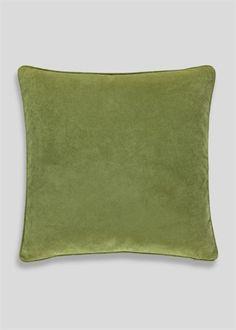Large Velour Cushion (58cm x 58cm) - Matalan
