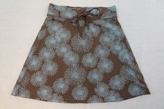 Alpine Design Womens Skirt Size Small Yoga Hiking Athletic Brown Turquoise A265 #AlpineDesign #StretchKnit