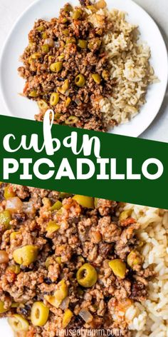 Five Approaches To Economize Transforming Your Kitchen Area Picadillo. This Cuban Recipe Is A Stew Made Of Ground Beef, Tomatoes And Seasonings. Olives Are Added For Saltiness And Raisins For A Little Bit Of Sweet. Meat Recipes, Mexican Food Recipes, Cooking Recipes, Healthy Recipes, Ethnic Recipes, Yummy Recipes, Recipies, Beef Picadillo, Cuban Dishes