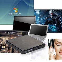 Neue Heiße Verkauf Externe Schwarzen CD RW, DVD-RW, DVD-RW, Schlank 8x DL USB-DVD-BRENNER Externe Dvd-brenner-laufwerk Alle PC Hohe qualität