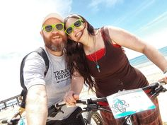 Shocked to death that my wife actually rode a bike.here's the evidence. Beach Rides, My Wife, Selfies, Round Sunglasses, My Photos, Death, Bike, Fashion, Bicycle
